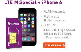 yourfone LTE M Special + iPhone 6 16GB