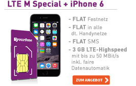 yourfone LTE M Special + Apple iPhone