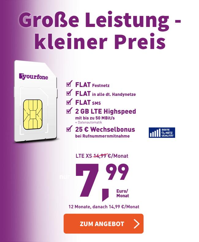 Yourfone Rechnung : g nstige smartphone tarife mit lte highspeed ~ Themetempest.com Abrechnung