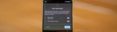 Android 11 mit nativem Bildschirmrekorder