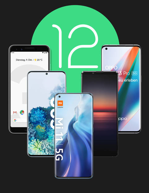 Diese Smartphones bekommen das neue Android 12