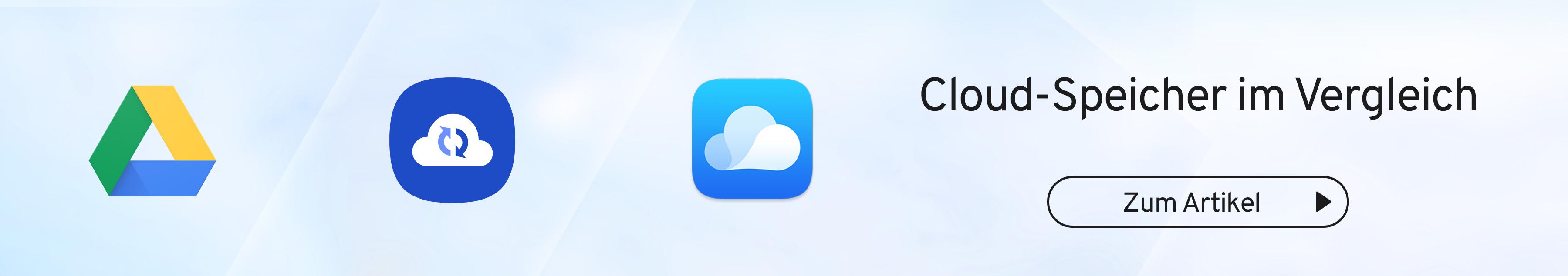 Cloud Speicher im Vergleich