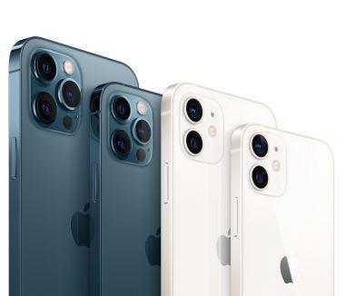 Die vier Modelle der iPhone 12-Serie