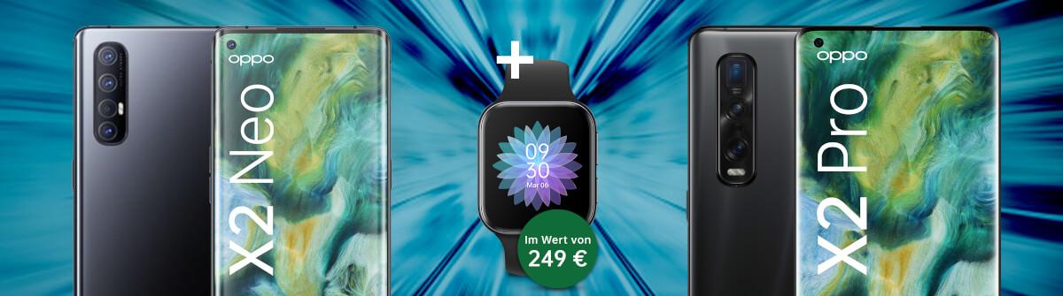 Oppo Find X2 Neo & Oppo Find X2 Pro inkl. kostenloser Oppo Watch