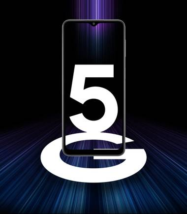 Minimalistisches Design mit großem 6,5 Zoll Infinity-V Display und HD+