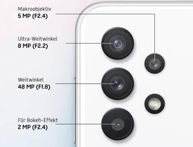Mit der Quad-Kamera professionelle Aufnahmen einfangen
