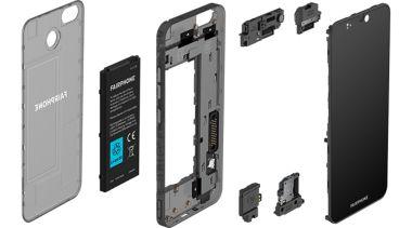 Das Fairphone 3 kommt mit scharfem LC-Display und austauschbarem Modulsystem