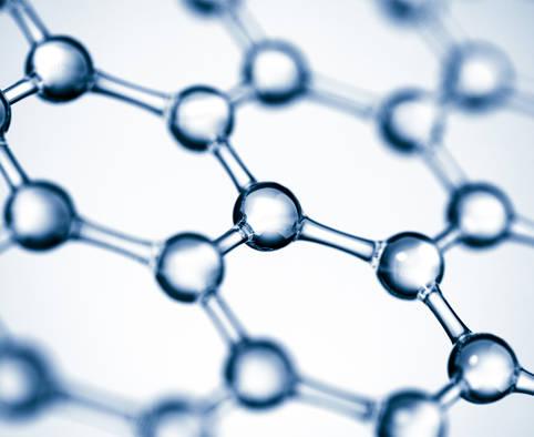 Kohlenstoffatome im Graphen Material