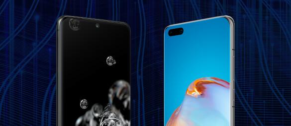 Huawei P40 Pro+ und Samsung Galaxy S20 Ultra im Vergleich