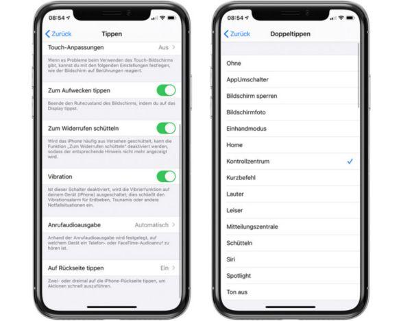 iPhone-Rückseite als zusätzlichen Knopf nutzen
