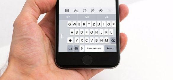 Einhand-Modus der Tastatur