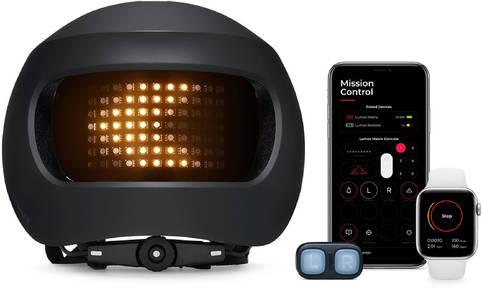 Lumos Fahrradhelm Matrix – smarter Helm mit RGB-Display-Beleuchtung
