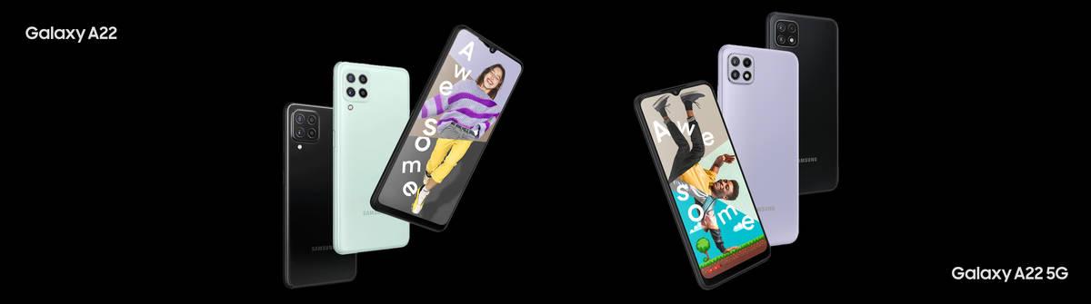 Galaxy A22 & A22 5G: Einsteiger-Handys von Samsung