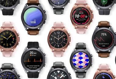 Galaxy Watch3 - Stilvoll mit Lünette und Lederarmband