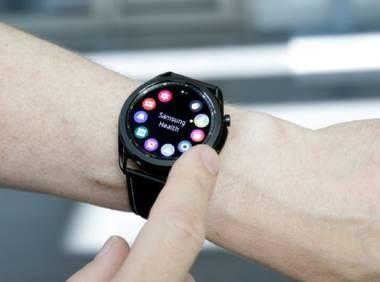 Scharfes Display bei der Galaxy Watch3