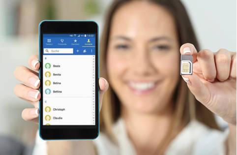 Kontakte ueber die SIM-Karte auf das neue Handy uebertragen