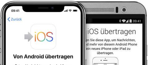 Daten vom Android-Geraet auf das neue iPhone uebertragen