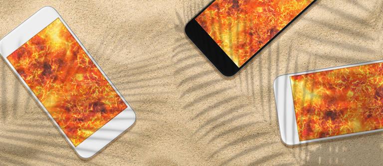 Handy wird heiß: Das Smartphone & die Hitze im Sommer